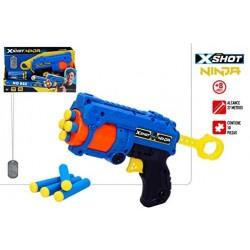 X-SHOT NINJA PISTOLA 8 DARDOS