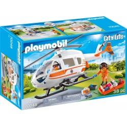 HELICOPTERO DE RESCATE PLAYMOBIL 70048