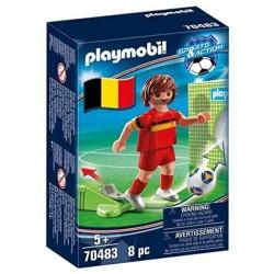 JUGADOR DE FUTBOL BELGICA PLAYMOBIL 70483
