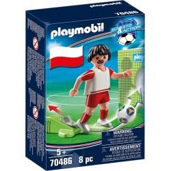 JUGADOR DE FUTBOL POLONIA PLAYMOBIL 70486