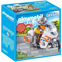 MOTO DE EMERGENCIAS PLAYMOBIL 70051