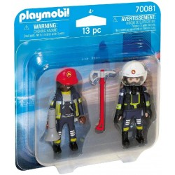 DUO PACK BOMBEROS PLAYMOBIL 70081