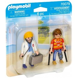DOCTORA Y PACIENTE PLAYMOBIL 70079