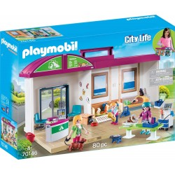 CLINICA VETERINARIA MALETIN PLAYMOBIL 70146