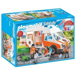AMBULANCIA CON LUCES PLAYMOBIL 70049