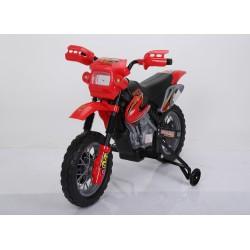 MOTO ROJA MOTOCROS 6V 4AH