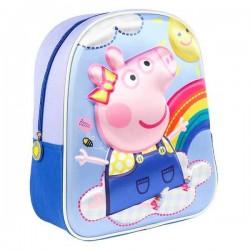 PEPPA PIG MOCHILA INFANTIL 3D ARCOIRIS