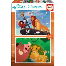 PUZZLES 2 X 48 PIEZAS REY LEON