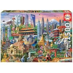 PUZZLE 1500 PIEZAS SIMBOLOS DE ASIA