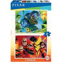 PUZZLE 2 X 48 PIEZAS BICHOS Y LOS INCREIBLES 2
