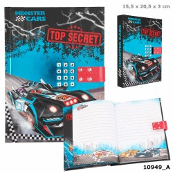 MONSTER CARS DIARIO CON CODIGO SECRETO