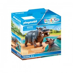 HIPOPOTAMO CON BEBE PLAYMOBIL 70354