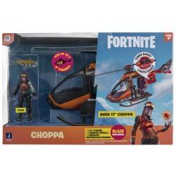 FORTNITE HELICOPTERO 40 CM CON LUZ Y FIGURA DE CHOPPA 17 CM