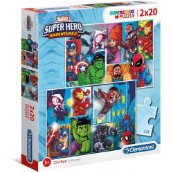 PUZZLE 2 X 20 SUPER HERO