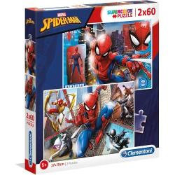 PUZZLE 2 X 60 PIEZAS SPIDER MAN