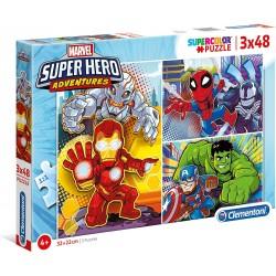 PUZZLE 3 X 48 PIEZAS SUPER HERO ADVENTURES