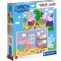 PUZZLE 2 X 20 PIEZAS PEPPA PIG
