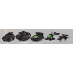 MICROMACHINES SET 5 VEHICULOS GUERRA