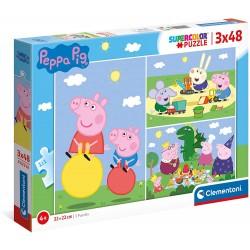 PUZZLE 3 X 48 PIEZAS PEPPA PIG