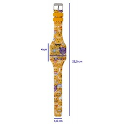 RELOJ LED DIGITAL EMOJI AMARILLO