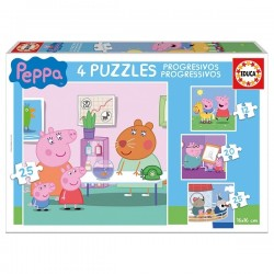 4 PUZZLES PEPPA PIG