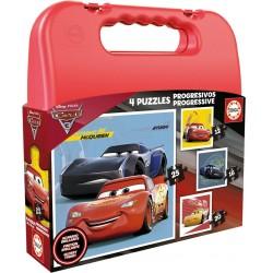 MALETA 4 PUZZLES PROGRESIVOS CARS