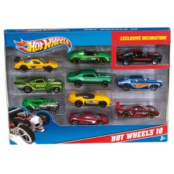 HOT WHEELS PACK DE 10 VEHICULOS