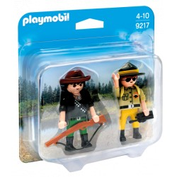 DUO PACK RANGER Y CAZADOR PLAYMOBIL 9217
