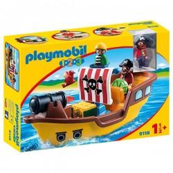 BARCO PIRATA 1 2 3 PLAYMOBIL 9118