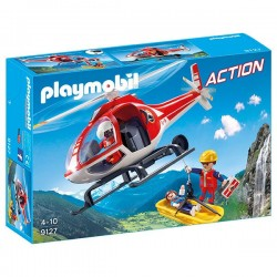 HELICOPTERO DE RESCATE PLAYMOBIL 9127