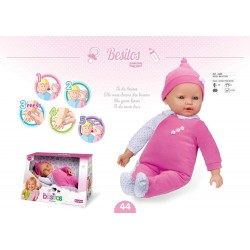 BEBE BESITOS 45 CMS ROSA TOYS