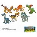 CAJA 6 ANIMALES DINOSAURIOS 10 CMS
