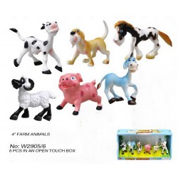 CAJA 6 ANIMALES GRANJA 10 CMS
