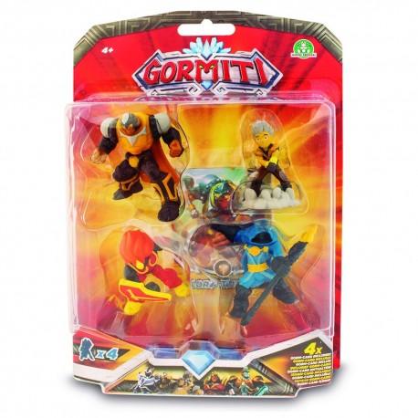 GORMITI - BLISTER 4 FIGURAS 5 CMS.