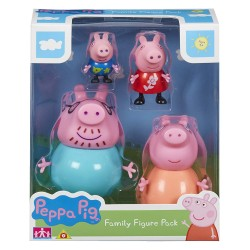 PEPPA PIG PACK 4 FIGURAS FAMILIA