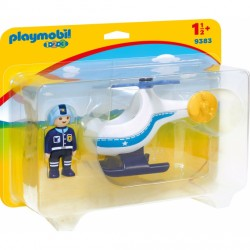 1 2 3 HELICOPTERO DE POLICIA PLAYMOBIL 9283