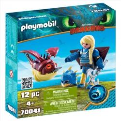 ASTRID CON GLOBOGLOB PLAYMOBIL 70041