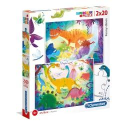 DINOSAURIOS PUZZLES 2 X 20 PIEZAS