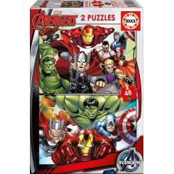 AVENGERS PUZZLE 2 X 48 PIEZAS