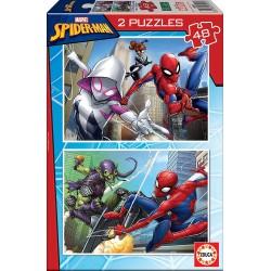 SPIDERMAN PUZZLE 2 X 48 PIEZAS