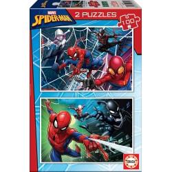 SPIDERMAN PUZZLE 2 X 100 PIEZAS