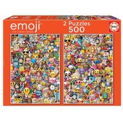 EMOJI PUZZLE 2 X 500 PIEZAS