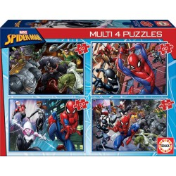 SPIDERMAN MULTI 4 PUZZLES