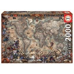MAPA DE PIRATAS PUZZLE 2000 PIEZAS