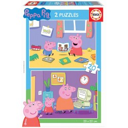 PEPPA PIG PUZZLE 2 X 20 PIEZAS