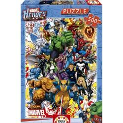 PUZZLE 500 PIEZAS HEROES MARVEL