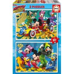 PUZZLE 2 X 20 PIEZAS MICKEY Y LOS SUPERPILOTOS