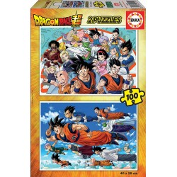 PUZZLES 2 X 100 PIEZAS DRAGON BALL