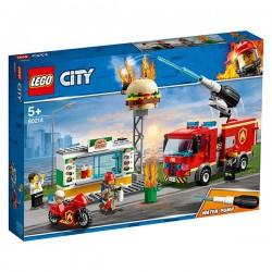 RESCATE INCENDIO EN LA HAMBURGUESERIA LEGO 60214