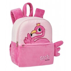 FLAMINGO MOCHILA GUARDERIA PELUCHE